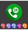 call support center icon flat web sign symbol logo vector image vector image