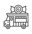 candy truck food truck line style editable vector image vector image