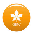 chestnut leaf icon orange vector image