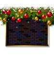 christmas frame made christmas tree vector image vector image