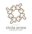 circle arrow brown design symbol icon vector image