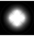Circle halftone vector image vector image
