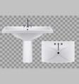 classic white ceramic washbasins with water tap