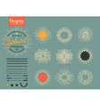 collection of trendy hand drawn retro sunburst vector image vector image