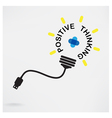 Creative light bulb idea business idea vector image