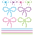 cute bows vector image vector image