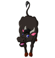 cute buffalo cartoon vector image