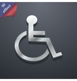 Disabled icon symbol 3D style Trendy modern design vector image vector image