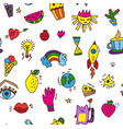 doodle funny seamless pattern for party or vector image vector image