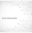 geometric graphic background molecule and vector image vector image