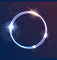 glowing luminous neon ring shiny template vector image vector image