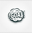 goal icon comics cloud with halftone shadow goal vector image vector image