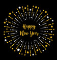happy new year fireworks star sparkle set round vector image