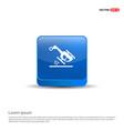 helicopter crash icon - 3d blue button vector image