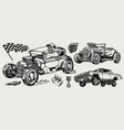 hot rod and lowrider cars concept vector image vector image