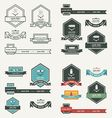 Label And Ribbon template set vector image