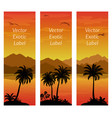 labels with palms vector image vector image