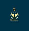 luxury perfume logo premium brand icon elegant vector image vector image