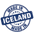 made in Iceland vector image vector image