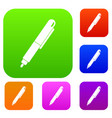 marker pen set color collection vector image vector image