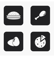 modern food icons set vector image