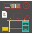 Modern interior room to work and study vector image