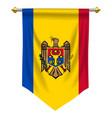 moldova pennant vector image