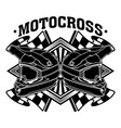 motocross bike dirt racing team vector image vector image