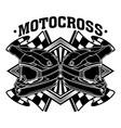 motocross bike dirt racing team vector image