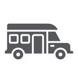 motorhome glyph icon transportation and auto vector image