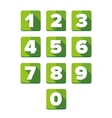 Number set green - flat design vector image vector image