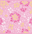 pink yellow triangles bursts seamless vector image vector image