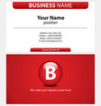 red business card with type-icon printable vector image