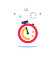 red stopwatch ringing last minute chance vector image