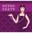 Retro party invitation vector image