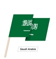 Saudi Arabia Ribbon Waving Flag Isolated on White vector image vector image