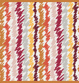 scribbled vertical stripes in warm colors on cream vector image vector image