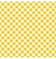 seamless classic yellow table cloth texture vector image