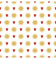seamless pattern of snowflakes and hearts vector image vector image