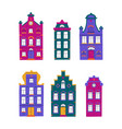 set minimalistic traditional houses collection vector image