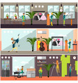 set of art and craft posters in flat style vector image vector image