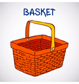 Shopping basket sketch icon vector image vector image