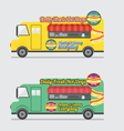 Side View Colorful Food Truck vector image