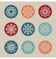 snowflake concept design vector image vector image