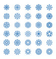 snowflakes collection christmas decoration snow vector image