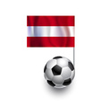 Soccer Balls or Footballs with flag of Austria vector image vector image