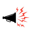 speaker icon voice amplifier element vector image