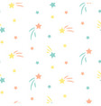 star sky cute seamless pattern background vector image vector image