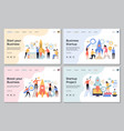 startup landing pages web business sites design vector image vector image