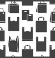 stop using plastic bags seamless pattern with flat vector image